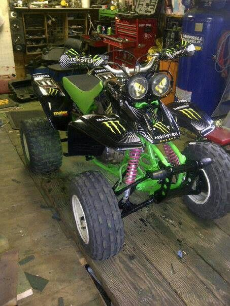 17 best images about warriors only summer yamaha 350 warrior monster energy graphics kit