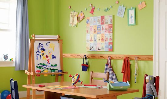 For the playroom art corner.