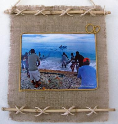 M s de 1000 ideas sobre marcos para fotos de yute en - Manualidades con tela de saco ...