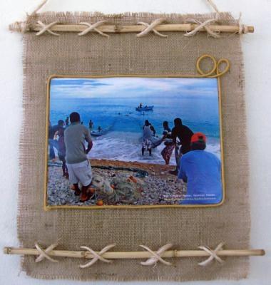 M s de 1000 ideas sobre marcos para fotos de yute en - Cuadros con tela de saco ...