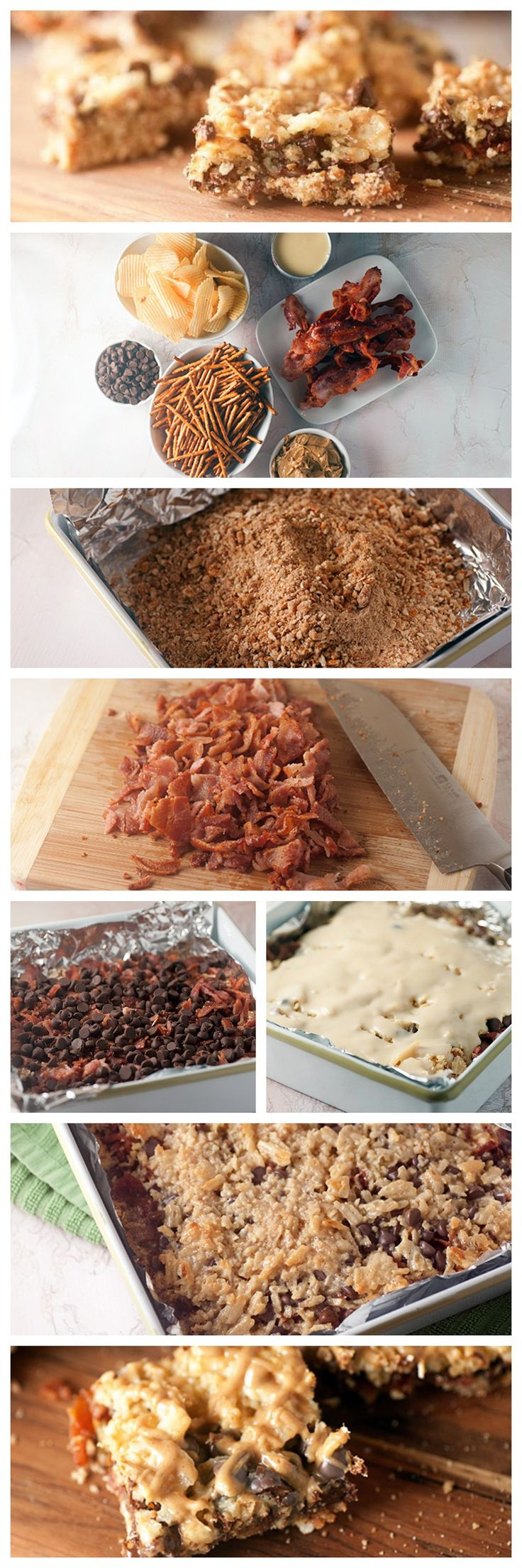 Bacon Chocolate Couch Potato Bars #bacon #chocolate