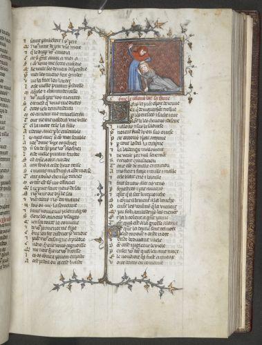 Wife beater Guillaume de Lorris, continued by Jean de Meun, Le Roman de la Rose (f. 1-143), two poems: Codicile de Jean de Meun (ff. 143-144v) and Testament de Jean de Meun (ff. 145-171v), France, Central (Paris); 4th quarter of the 14th century