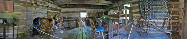Panorama of John Sevier Cabin in South Knoxville