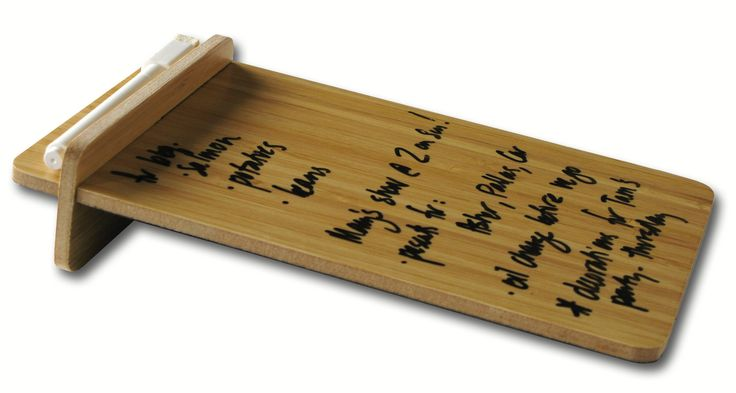 Three by Three Seattle Desktop To-Do Board, 5.5 x 9 Inches, Bamboo