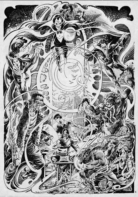 Marvel monsters, art by Tom Sutton