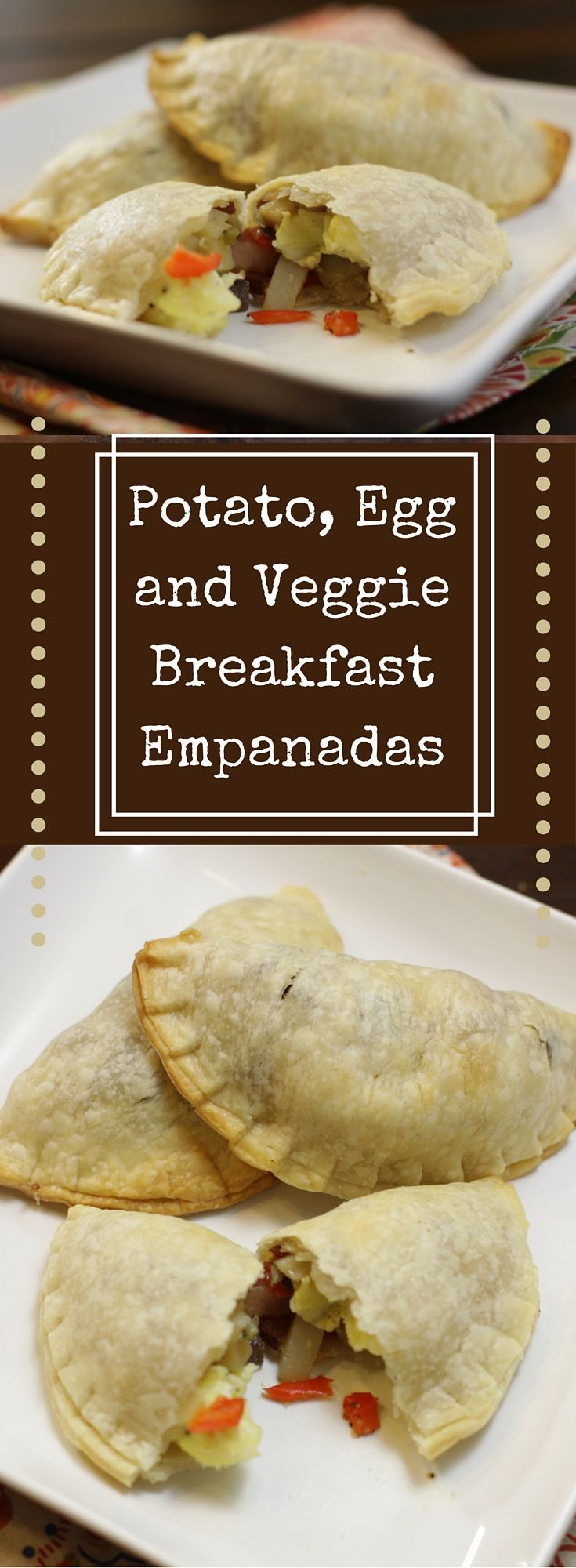 These Potato, Egg and Veggie Breakfast Empanadas are SO good. Next time, I would have doubled the recipe so it made more than 12 because I really want to eat some more of them. Guess we'll have to make it again soon!