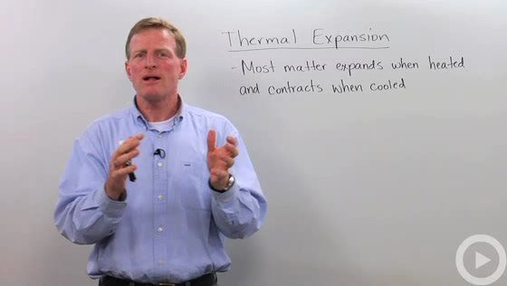 Video on understanding and predicting thermal expansion. Short explanation of thermal explanation, plus example problems using thermal expansion found in Physics.