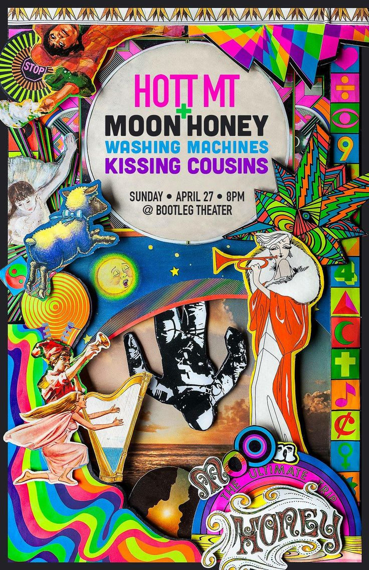 HOTT MT, Moon Honey, Washing Machines, and Kissing Cousins at the Bootleg Theater on 4-27-14