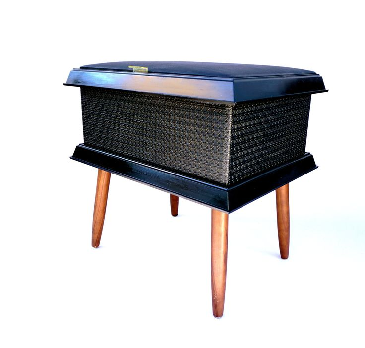 Mid-Century Modern Storage Footstool Sewing Ottoman Box Hassock Bench by ELECTRICmarigold on Etsy