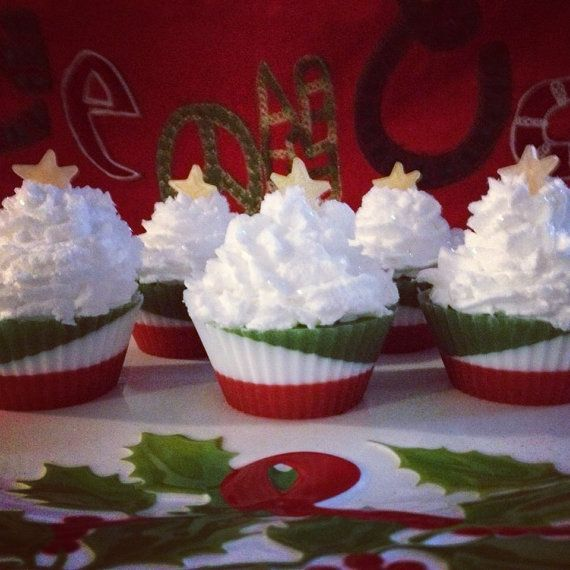 Christmas Soap Cupcake
