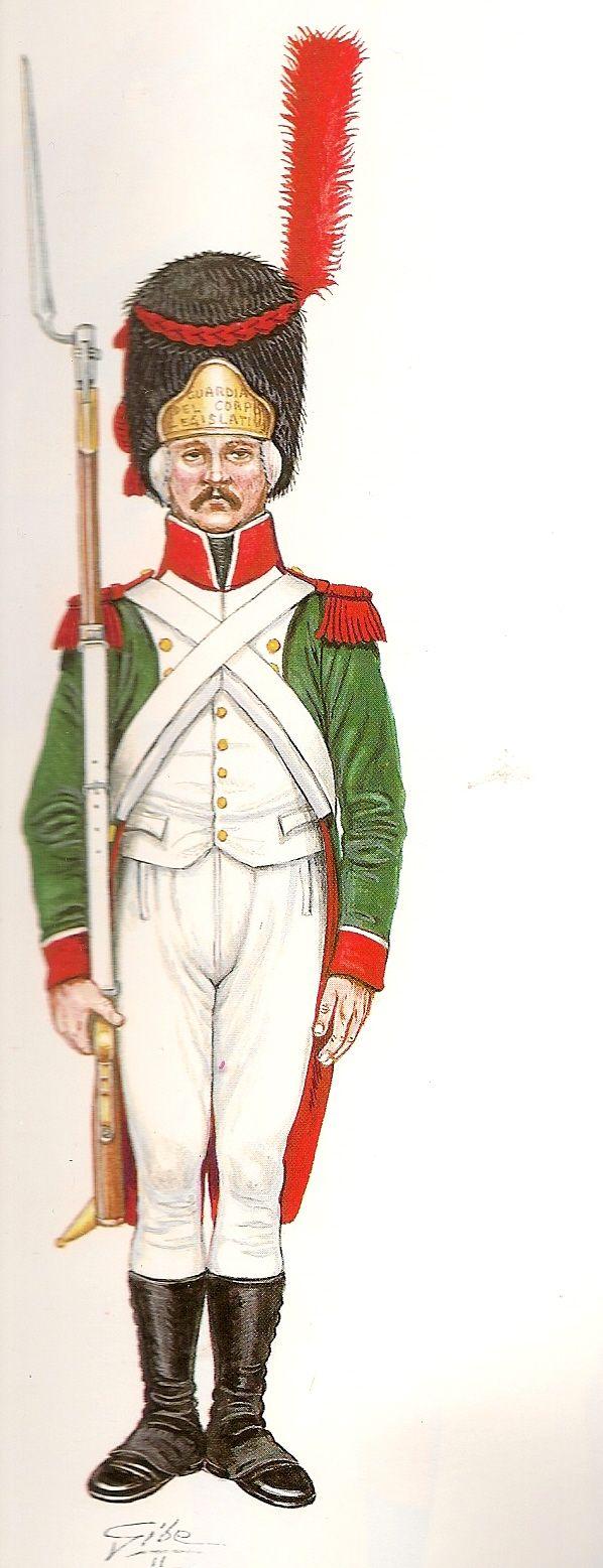 Cisalpine Republic, Grenadier, Guard of the  Cuerpo Legislativo 1796