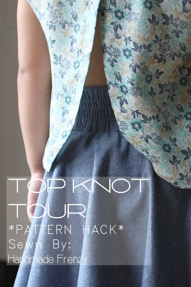 Handmade Frenzy: Top Knot Tour // Pattern Hack