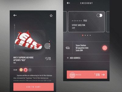 Nike X Supreme Shoes Shop UI | Motion
