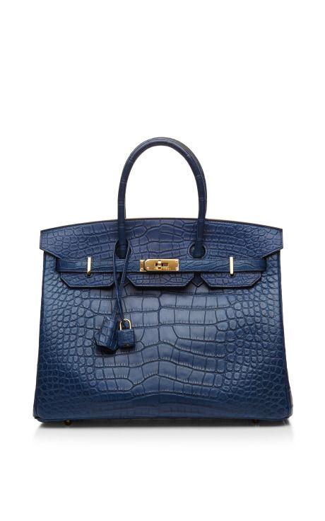 Blue De Malte Matte Alligator 35cm Hermes Birkin Bag