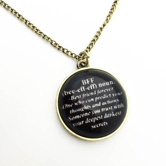 Bff necklace bff necklace pendant friendship necklace by Cetro
