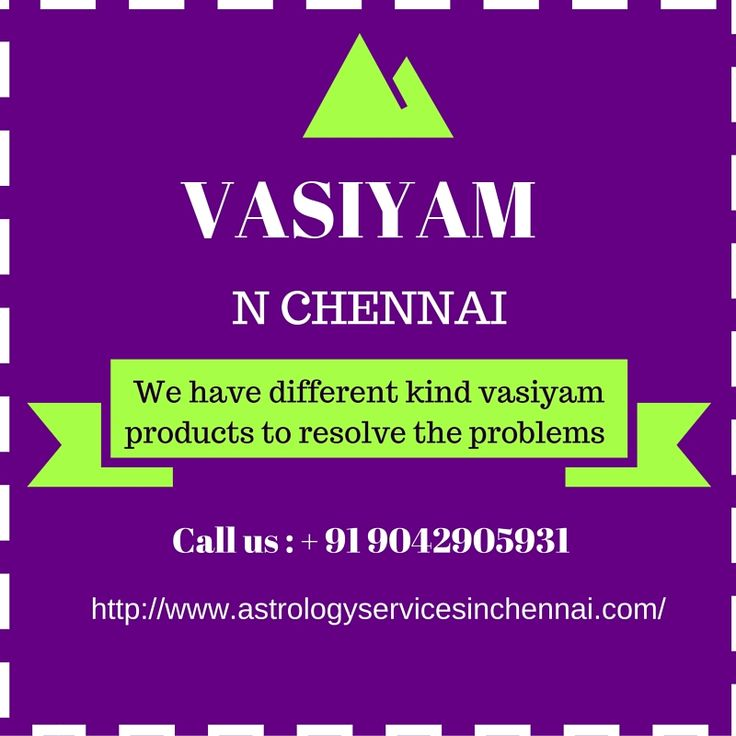 Vasiyam in Chennai  can be done for everyone but it will works only for good things. We have different kind vasiyam products to resolve the problems with long term basis.
