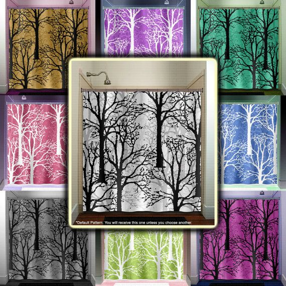 Oak Forest Woodland Winter Trees Shower Curtain By TablishedWorks 6700 Tree CurtainsWindow