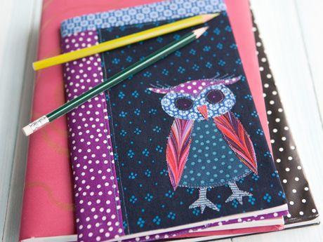 Tee tilkuista vihkonpäällinen – Katso ohje: Kotiliesi.fi - Cover for notebook