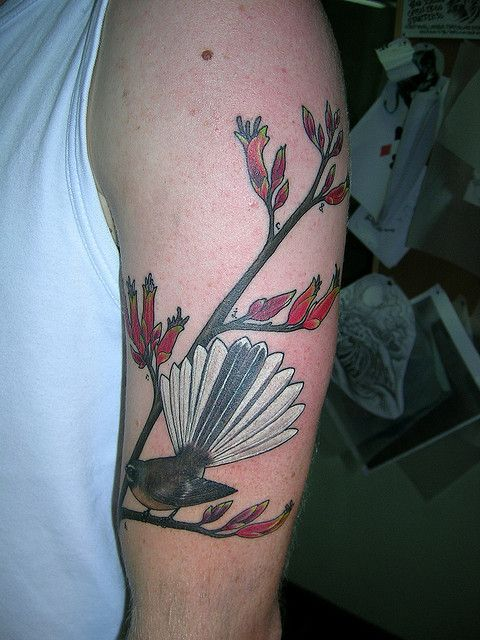 Fantail Tattoo by insertname, via Flickr
