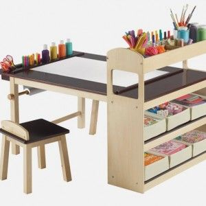 Fully Equipped Drawing Table for Kids – Deluxe Art Center Table