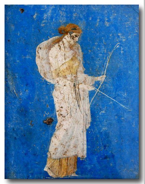 Roman Frescos Excavated From Pompeii & Herculaneum -- Museo Archeologico Nazionale -- Naples. Italy