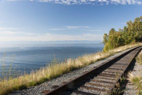 Streckenabschnitt der Transsibirischen Eisenbahn