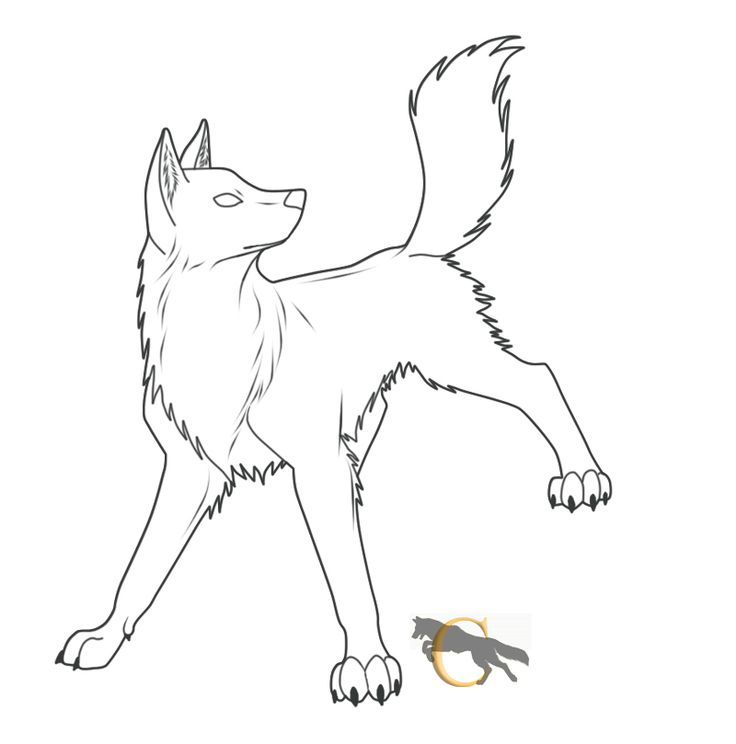 Wolf Lineart : Free wolf lineart flareandicicle viantart wolves