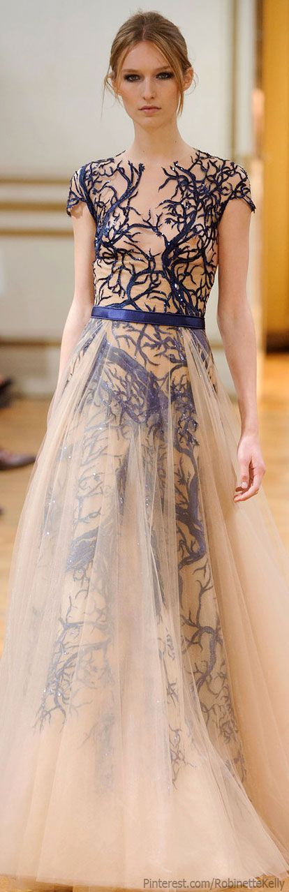 Blue and Nude || Zuhair Murad Haute Couture