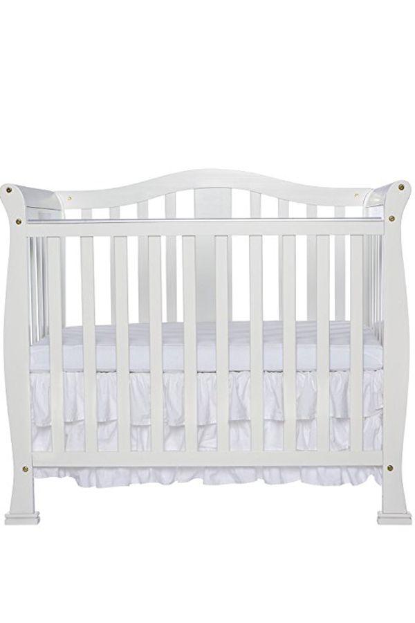 Dream On Me Addison 4 In 1 Convertible Mini Crib White Mini Crib Cribs Baby Girls Nursery