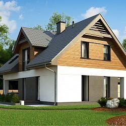 Z365 - współczesny dom jednorodzinny z garażem jednostanowiskowym...