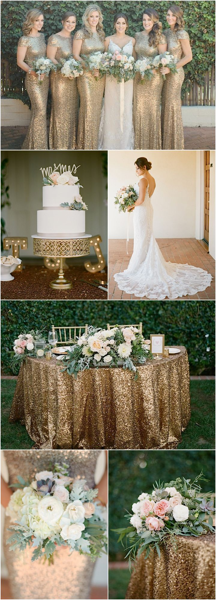 Featured Photographer: Acres of Hope Photography; classy gold wedding reception details