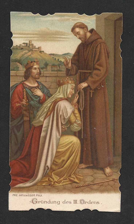 São Luís de França,  Santa Isabel da Hungria, patronos da Ordem Terceira de São Francisco.