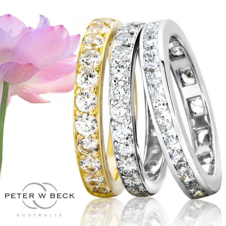 Stunning Diamond Set Rings byPeter W Beck Australia #beautiful #stunning #PeterWBeck #Diamond #rings #wedding #gold #australia #AustralianMade #love #marriage