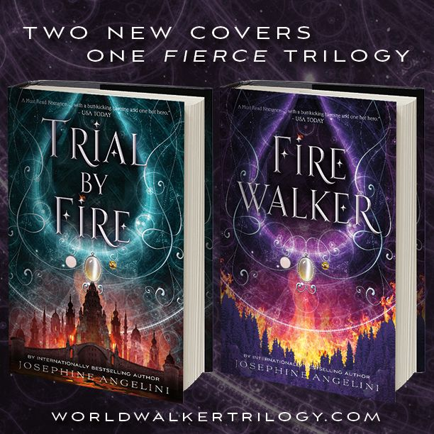 Check out the cover reveal for FIREWALKER and a new design for TRIAL BY FIRE in the World Walker Trilogy by Josephine Angelini