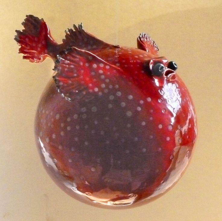 Luca Canavicchio. Pesce palla, maiolica