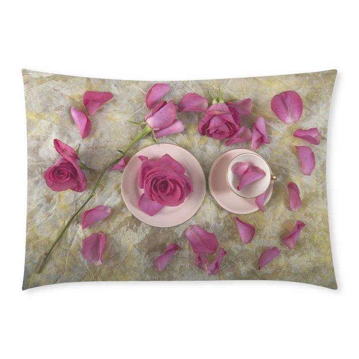 Pink Love Custom Rectangle Pillow Cases 20x30 (One Side)