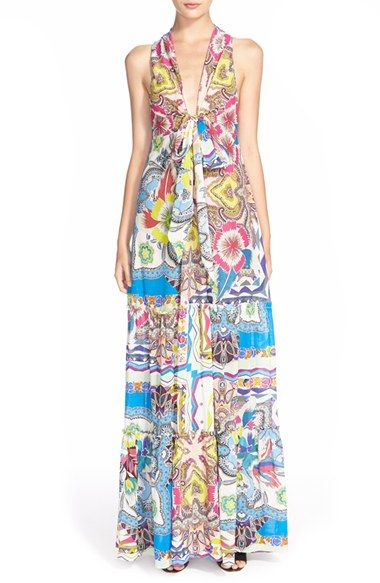 Etro Floral Print Tiered Cotton & Silk Sundress available at #Nordstrom
