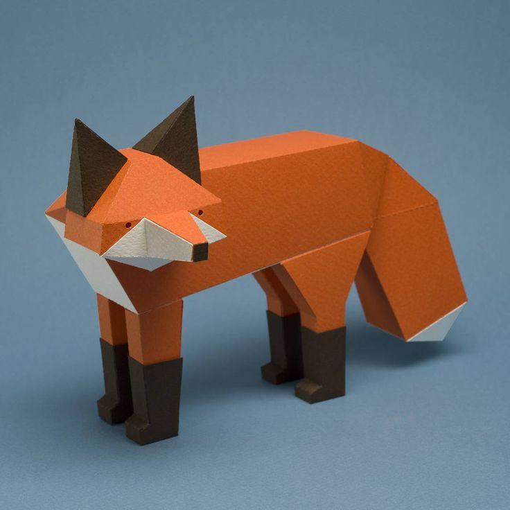 Wonderful Geometric Paper Animal Sculptures