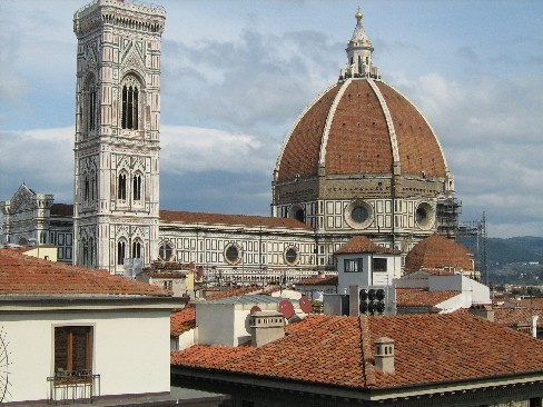 Lunch on roof of Dept. Store La Rinascente in Florence (Cafeteria Le Terrazze)