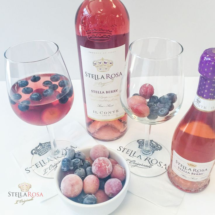 Chill your #StellaRosa wine with these frozen fruit ice cubes!                                                                                                                                                                                 More