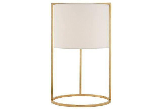 Framework Desk Lamp, Soft Brass