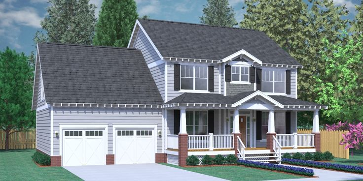 164 best images about two story house plans on pinterest for 2 car garage with bonus room