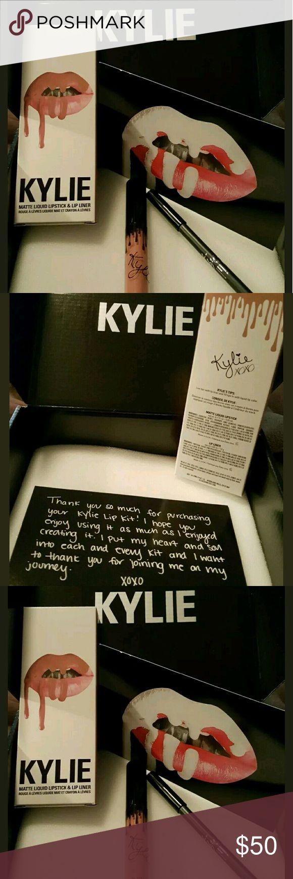 Kylie Kenner Kandy K. Always sold out. SOLD OUT AGAIN!!!!!!!!!!!!   Contains: 1 Matte Liquid Lipstick (0.11 fl oz./oz. liq / 3.25 ml) and 1 Pencil Lip Liner (net wt./ poids net  .03 oz/ 1.0g)   The #KylieLipKit is your secret weapon to create the perfect 'Kylie Lip.' Each Lip Kit comes with a Matte Liquid Lipstick and matching Lip Liner. Kandy K  This ultra-long wearing lip liner has a creamy texture that glides across the lips for a very easy and comfortable application. The Lip Liner…