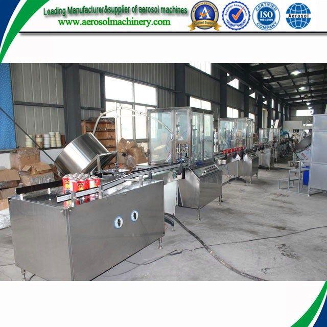 High Speed Automatic aerosol cap pressing machine     More: https://www.aerosolmachinery.com/sale/high-speed-automatic-aerosol-cap-pressing-machine.html