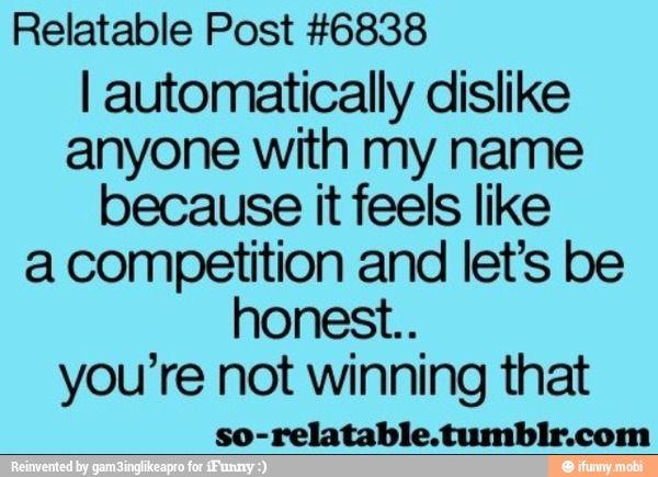 Or close to my name. Tanya *shudders*