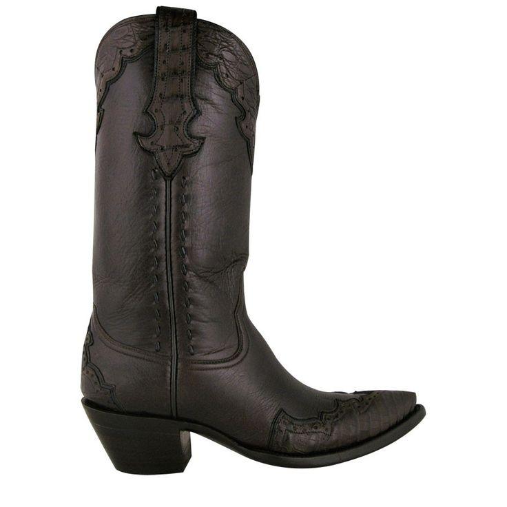 "Stallion Ladies ""Majestic"" Caiman Boots - Chocolate"