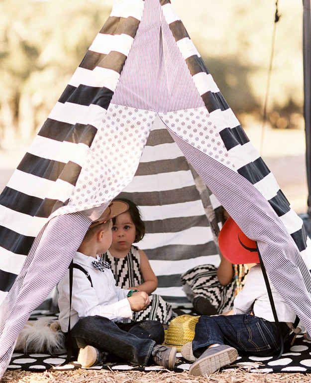 "Set up a ""kids only!"" tent."