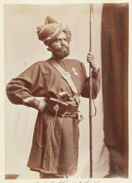 Unknown orderly of Anup Singh (11th BL) and Sirdar Nehal Singh, Sikh, 1887