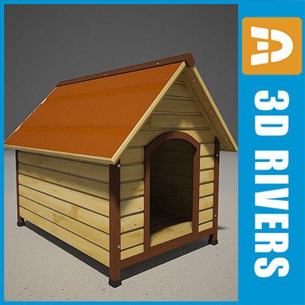 3D Obj Wooden Dog Kennel   3D Model