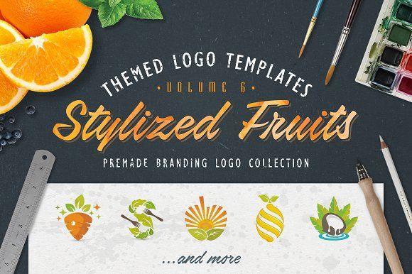 Logo Bundle Vol.6 - Fruits & Food by Zack Fair Design on @creativemarket
